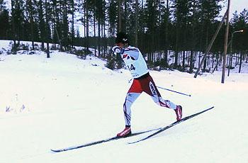 [写真]新田佳浩の滑走