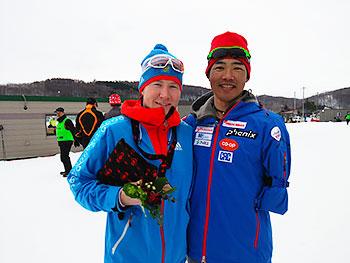 [写真]Vladislav選手と新田佳浩