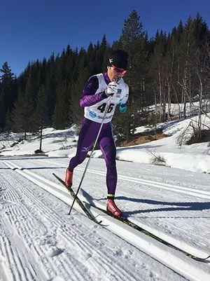 [写真]新田佳浩選手レース中の滑り