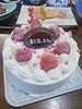 [写真]チームからケーキ