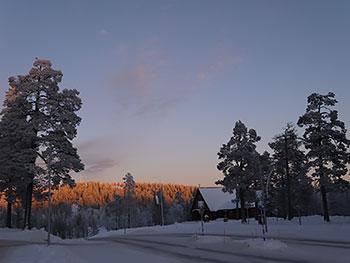 [写真]サーリセルカの夕焼け
