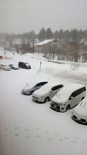 [写真]北海道旭岳の積雪