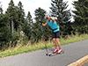 [写真]ローラースキーでのトレーニング