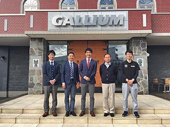 [写真]Gallium様にご挨拶