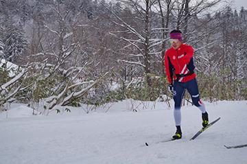 [写真]約8か月ぶりの雪上トレーニング