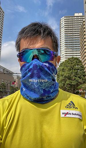 [写真]新田選手のランニングスタイル