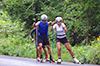[写真]新田選手、阿部選手、向パートナーのトレーニングの様子