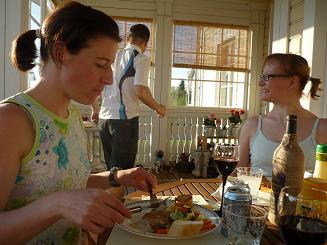 [写真]Ulla-Marja 先生の家で