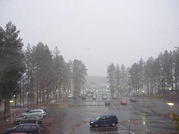[写真]フィンランドに初雪