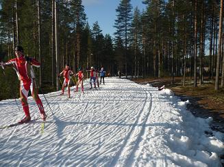 [写真]スキーをする人たち