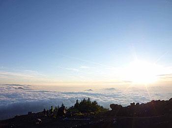 [写真]雲海とご来光