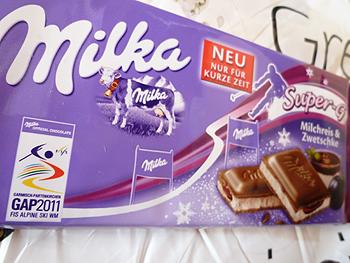 [写真]Milkaチョコレートのパッケージ