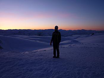 [写真]ニュージーランドの夕焼け