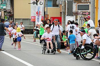[写真]チャレンジ区間参加者の方