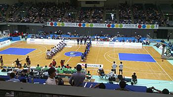 [写真]車いすバスケ アジアオセアニアチャンピオンシップ会場