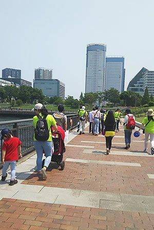 [写真]バリアフリーの「ジャパンウォーク in Tokyo」ショートコース
