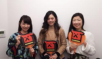[写真]平井理央さん、坪井保菜美さん、太田渉子