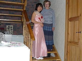 [写真]太田選手とおばあちゃん