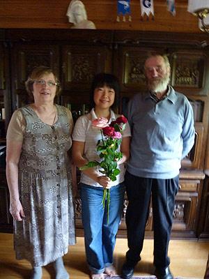 [写真]Takalaさん家族と太田渉子選手