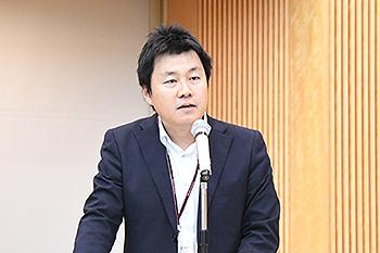 [写真]後援会副会長の労組北村委員長