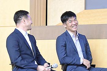 [写真]長濱一年監督、新田佳浩選手