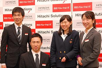 [写真]ソチ2014パラリンピック冬季大会代表の4選手