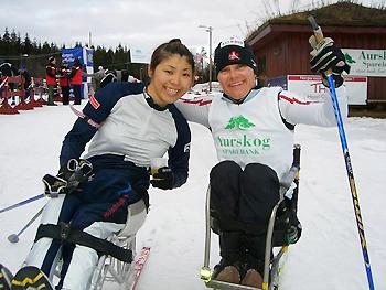 [写真]ノルウェー大会最終日コレット選手と