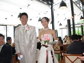 [写真]新田選手結婚式