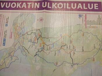 [写真]ハイキングコースの地図