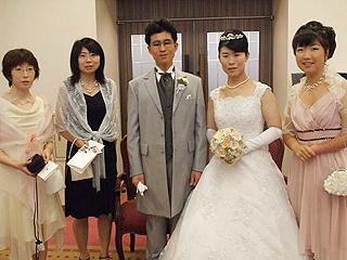 [写真]井口深雪さんの結婚式にて