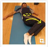 [写真]両脚を倒す